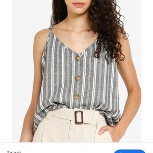 New Allie Button Front striped Cami size M